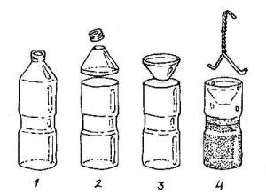 flies - vineger trap water bottle 1