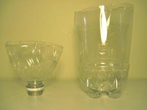 flies - vineger trap water bottle 2