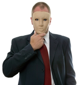 Businessman face mask
