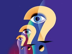Question Marks and Eyes --- Image by © Images.com/Corbis